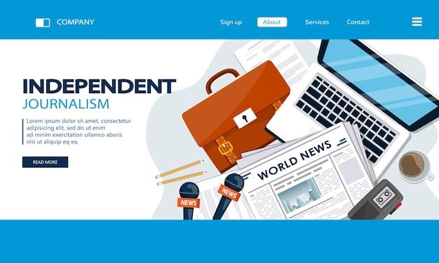 Landingspagina voor onafhankelijke journalistiek