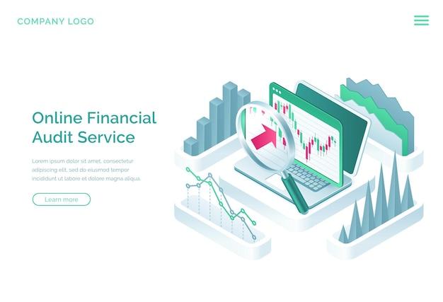 Landingspagina voor online financiële auditdiensten