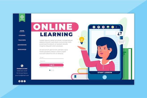 Landingspagina voor online leren