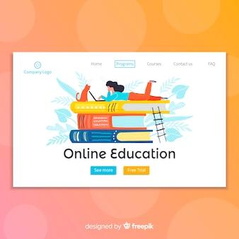 Landingspagina voor online onderwijs