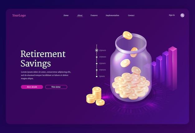 Landingspagina voor pensioenbesparingen
