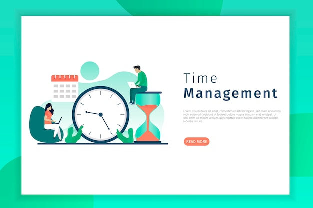 Landingspagina voor productiviteit en tijdbeheer