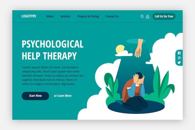 Landingspagina voor psychologische hulp therapie
