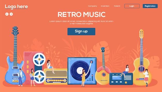 Landingspagina voor retro muziek