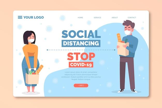 Landingspagina voor sociale afstand