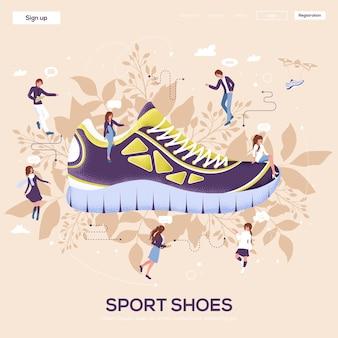 Landingspagina voor sportschoenen
