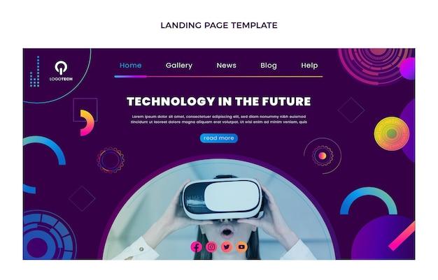 Landingspagina voor technologie met gradiënttextuur