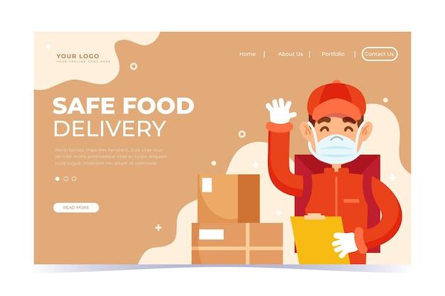 Landingspagina voor veilige voedselbezorging