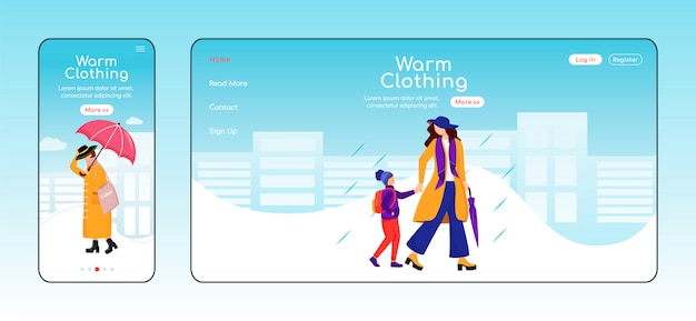 Landingspagina voor warme kleding