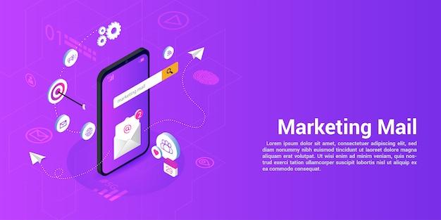 Landingspagina websjabloon voor marketingpost of mailingbureaus