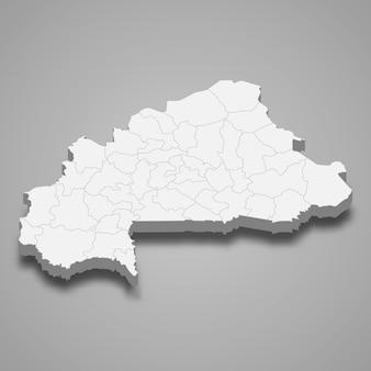 Landkaart met grenzen van regio's
