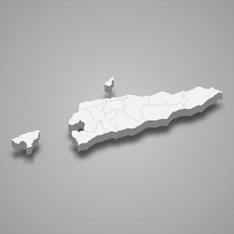 Landkaart met randen