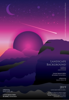 Landscape poster template graphic design