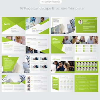 Landschap bedrijfsprofiel brochureontwerp