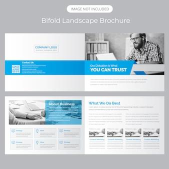 Landschap bifold brochure template