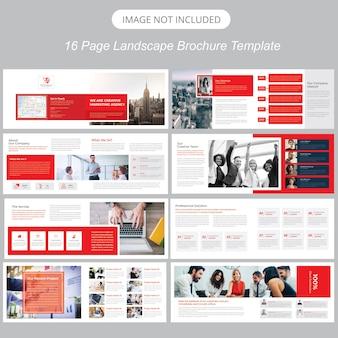 Landschap brochure template