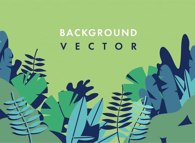 Landschap illustratie met kleurrijke kleuren - achtergrond met sjabloontekst. kan worden gebruikt voor posters, borden, brochures, banners, webpagina's, headers, covers.