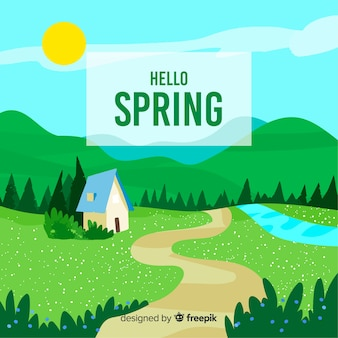 Landschap lente achtergrond