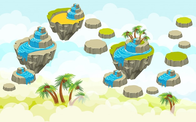 Landschap met eilanden.