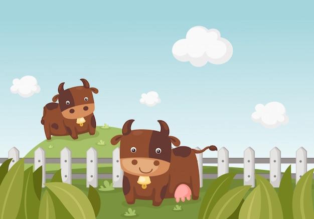 Landschap met koe