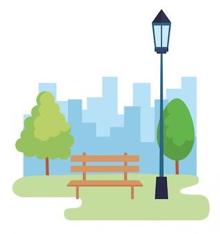 Landschap park scène pictogram