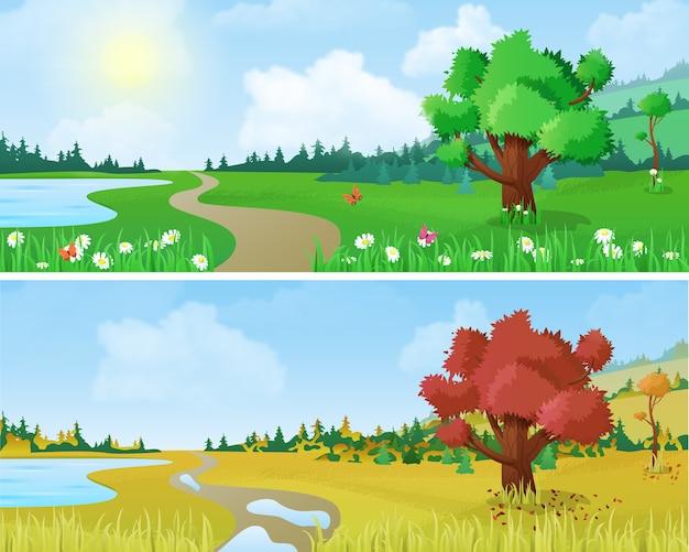 Landschap seizoenen