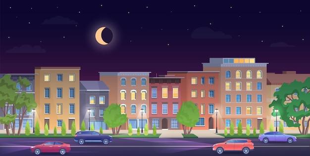 Landschap stedelijke stad ny gebouwen