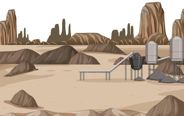 Landschap van de kolenmijnindustrie overdag