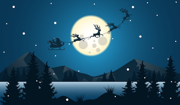 Landschap van kerstmis en gelukkig nieuw jaar met viering.