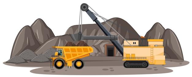 Landschap van kolenmijn
