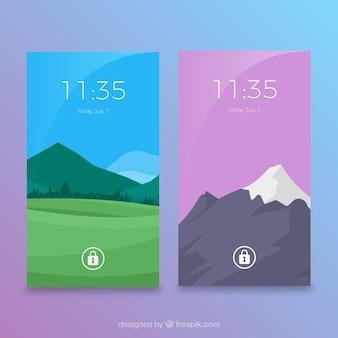 Landschap wallpapers met bergen voor mobiel