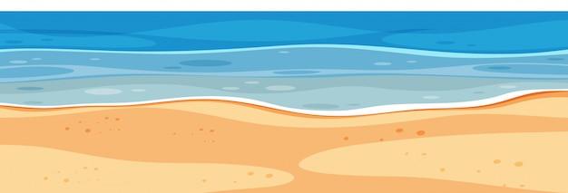 Landschapsachtergrond met blauwe overzees