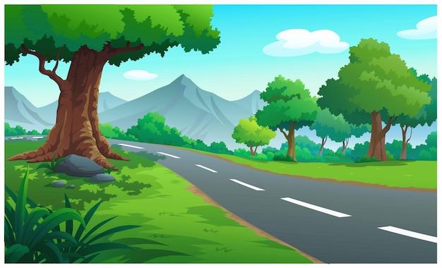 Landschapsbos en berg overdag.