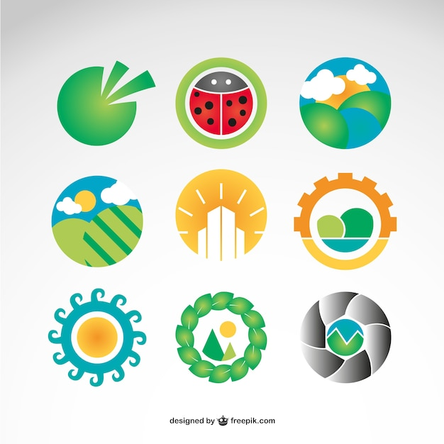 Landschapsfotografie vector logo gratis