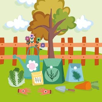 Landschapstuin en gereedschap