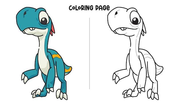 Lange blauwe dinosaurus