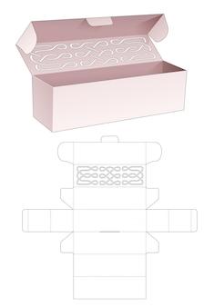 Lange doos met gestanste sjabloon met gebogen lijnsjabloon