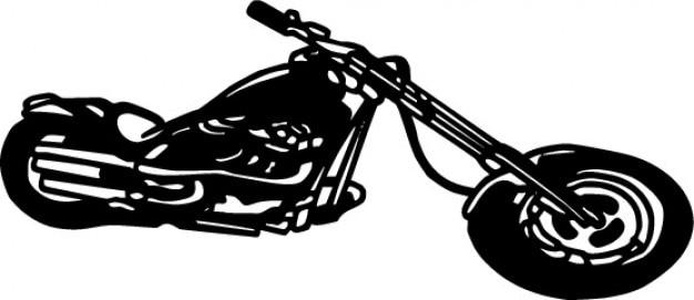 Lange motorfiets monochrome pictogram vector