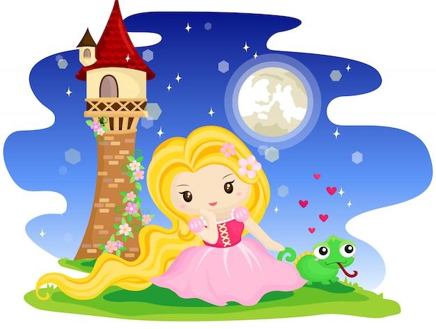 Langharige prinses