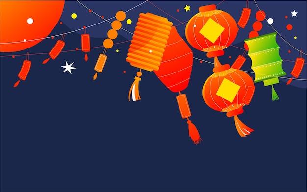 Lantaarnfestival lantaarnfestival gissen lantaarn raadsel illustratie traditionele feestdag