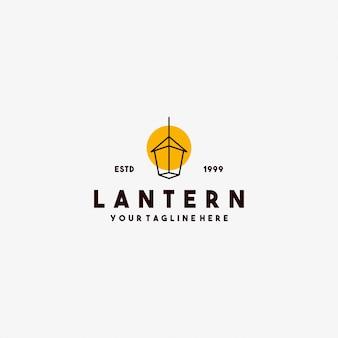 Lantaarnlogo-ontwerp met minimalistische stijl