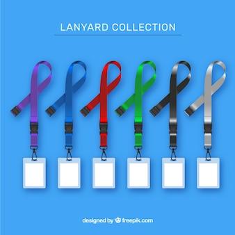 Lanyard-collectie met een realistisch ontwerp