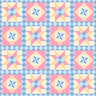 Lappendeken naadloos patroon. abstracte achtergrond.