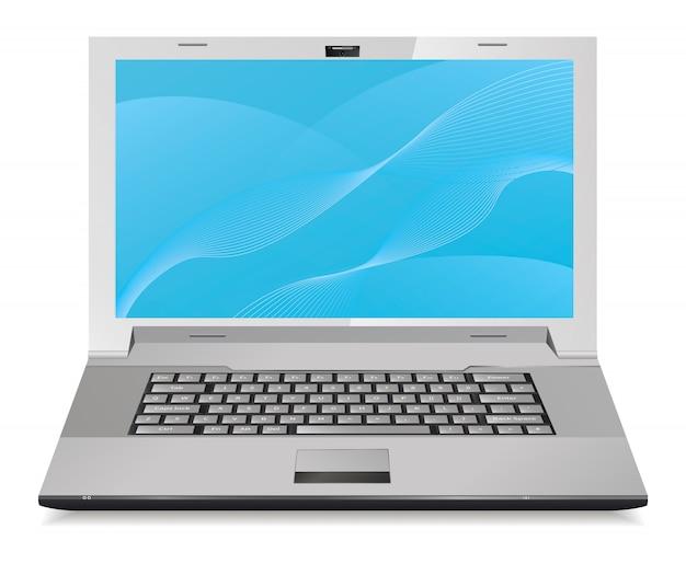 Laptop illustratie