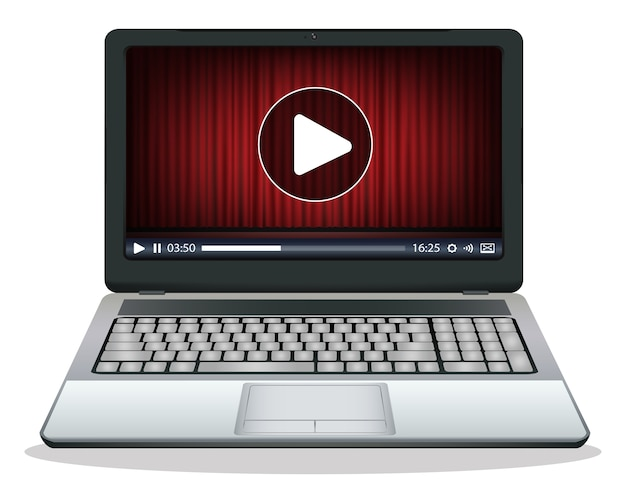 Laptop met mediaspeler