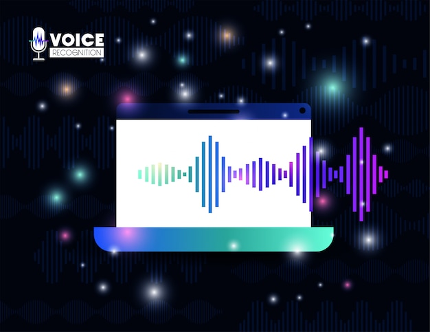 Laptop met technologie voor spraakherkenning