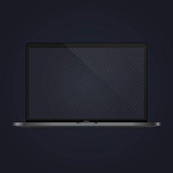 Laptop mock-up banner. notitieboekje. apparaatpictogram. vector op geïsoleerde witte achtergrond. eps-10.