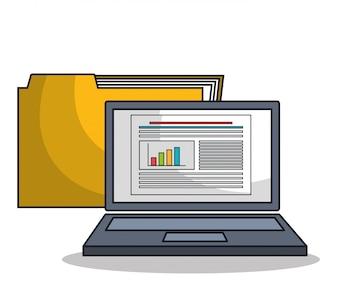 Laptop pictogram technologie digitaal geïsoleerd