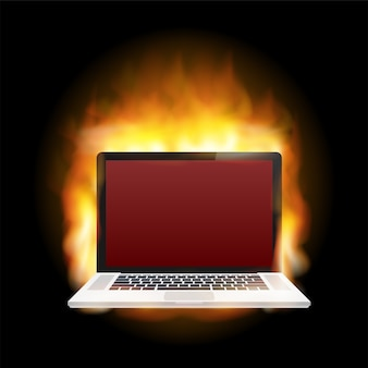 Laptop schade illustratie