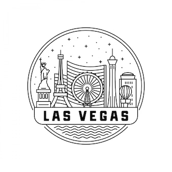 Las vegas skyline badge